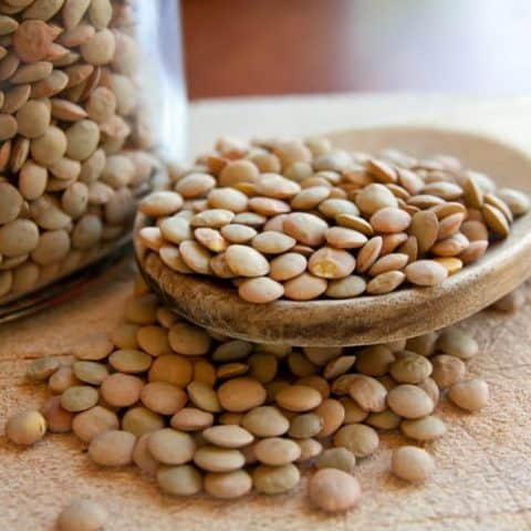 Lentils legumes beans