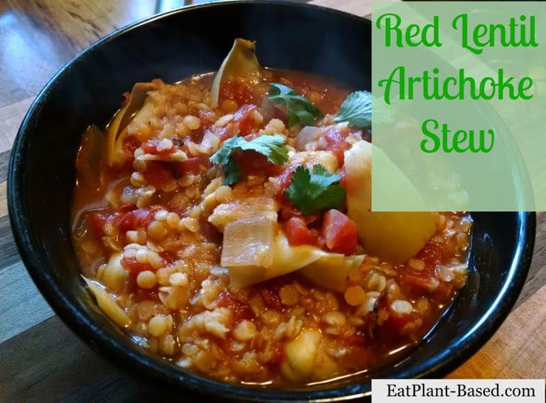 Red Lentil Artichoke Stew