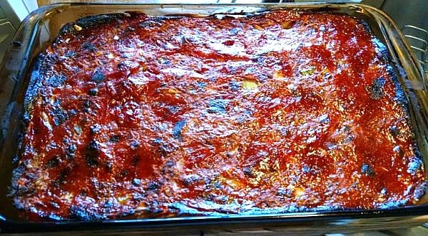 Vegan Meat Loaf fresh out of the oven.