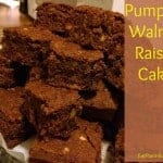 Pumpkin Walnut Raisin Cake