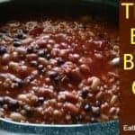 Three-Bean Bulgur Chili