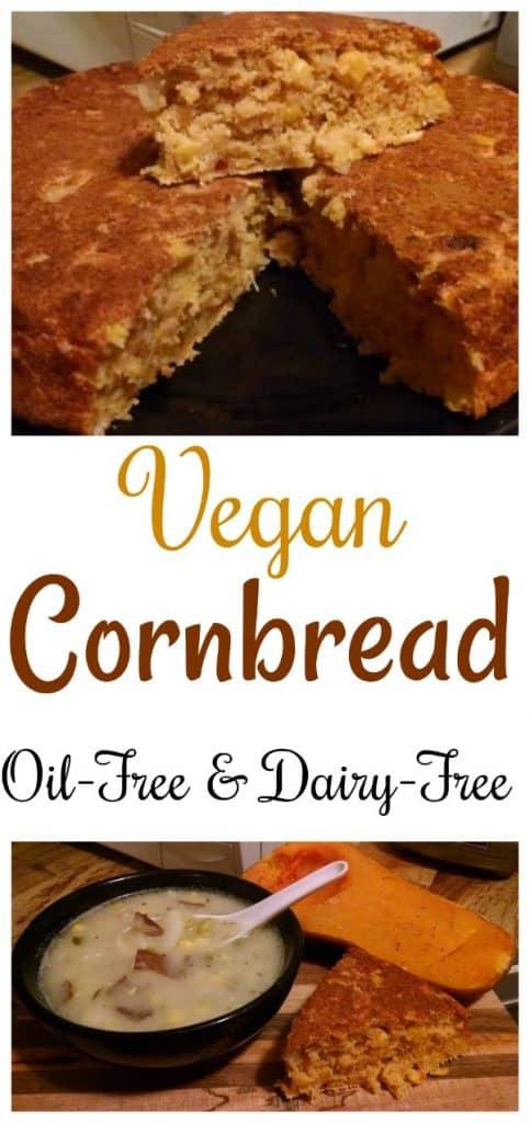 Vegan Cornbread collage