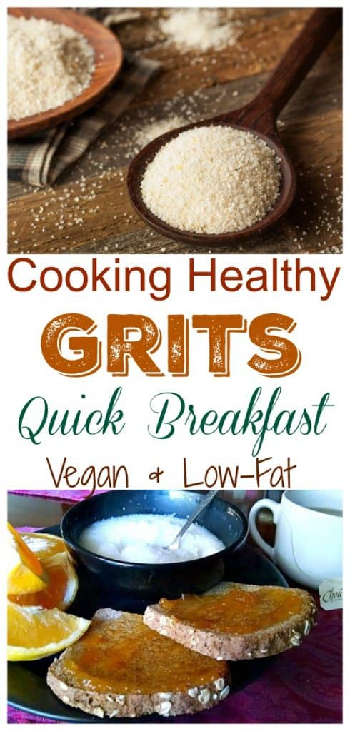 cooking healthy grits pinterest collage