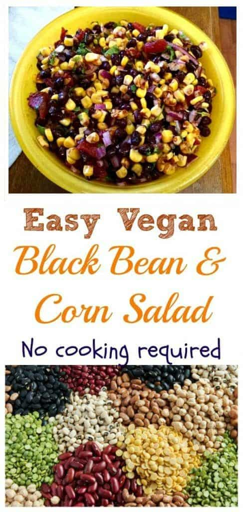 simple no cooking bean salad