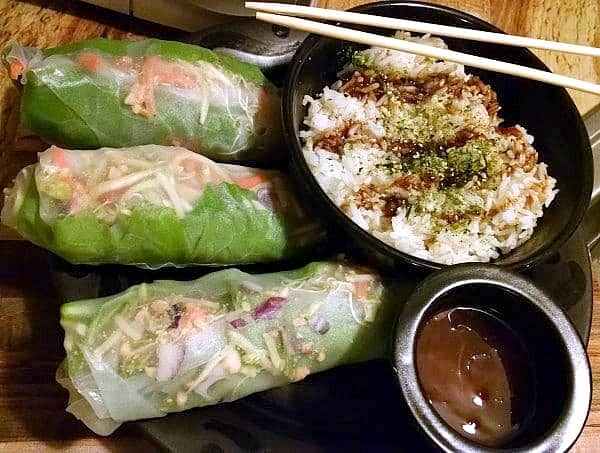 Fresh Thai Spring Rolls with Brown and Jasmine Rice