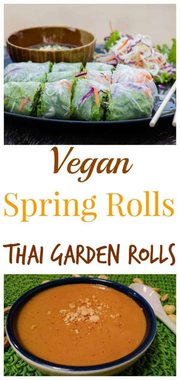 Thai Vegan Spring Rolls (AKA Garden Rolls) are one of our favorite meals. Add a big bowl of steamed rice, and we've got dinner!