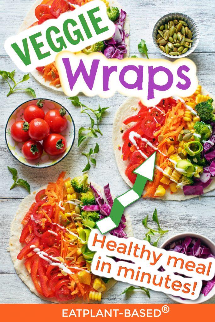 veggie wrap photo collage for pinterest