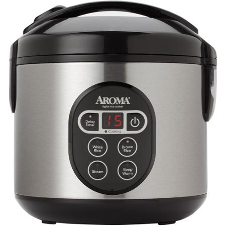 Aroma 2-8-Cups Digital Cool-Touch Rice Cooker and Food Steamer
