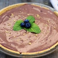 Chocolate Vegan No-Bake Pie
