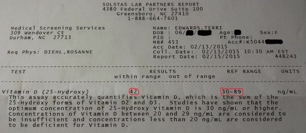 can you get vitamin d from the sun. test results