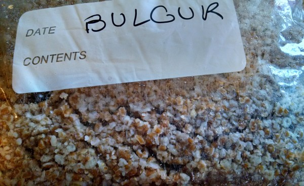 Chili Vegan Recipe. cooked bulgur