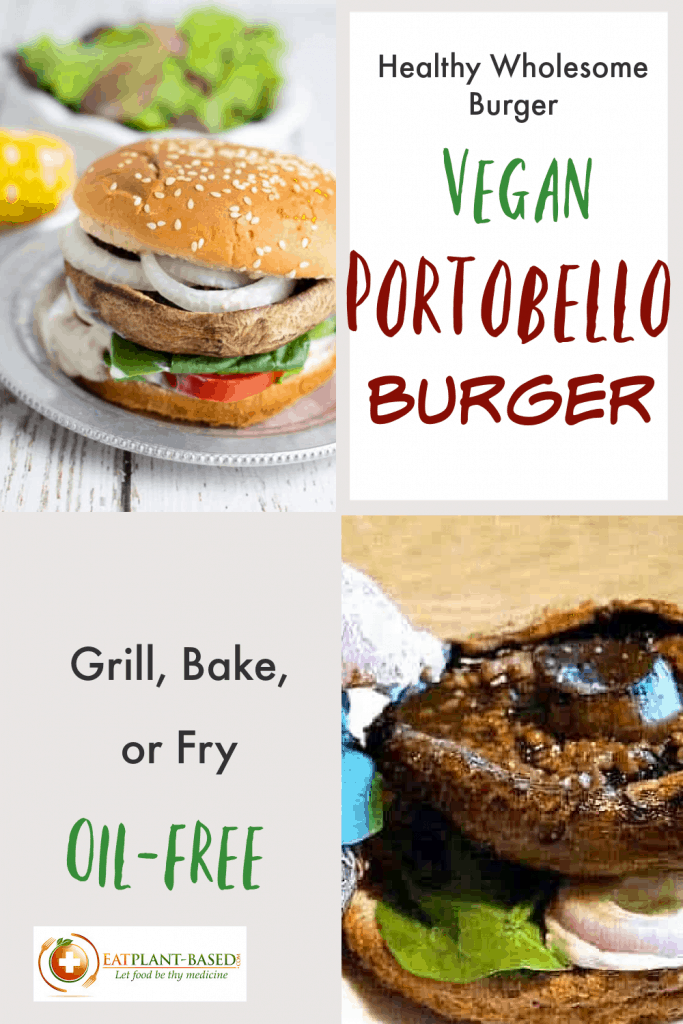 portobello burger pinterest collage