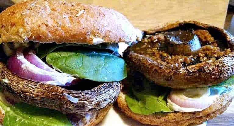 Portobello Mushroom Burger Vegan