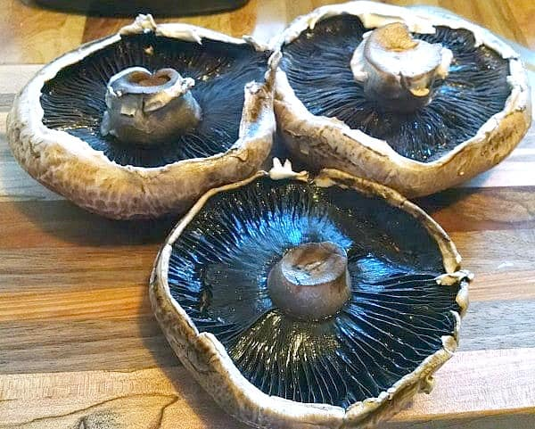 large portobello caps for mushroom burgers
