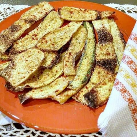 zucchini and squash oven fried