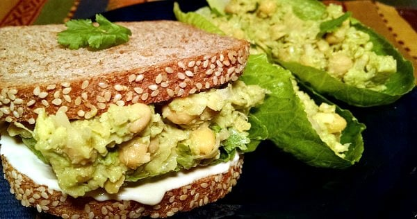 vegan sandwich ideas avocado chickpea