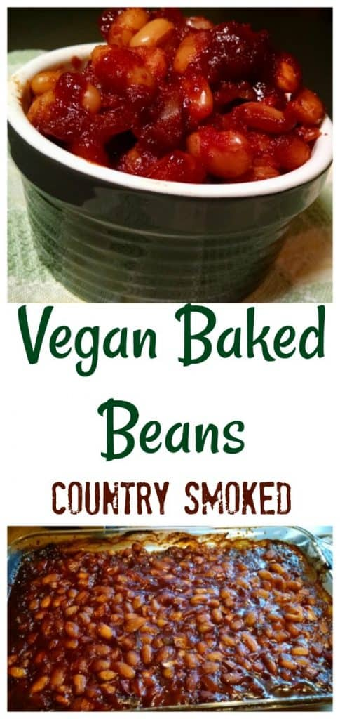 Vegan Baked Beans Country Smoked collage