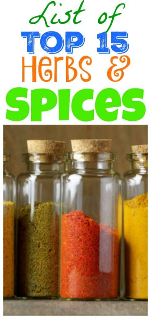 list of spices