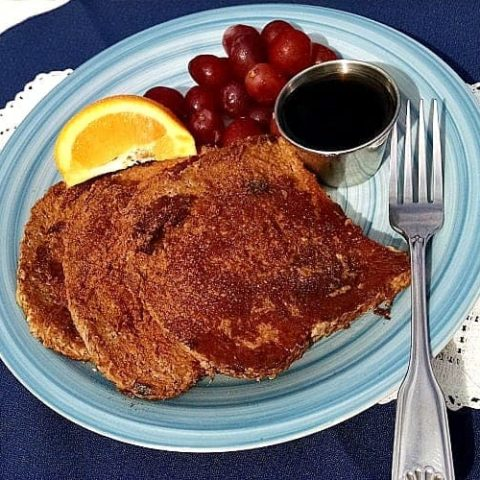 French toast in plate