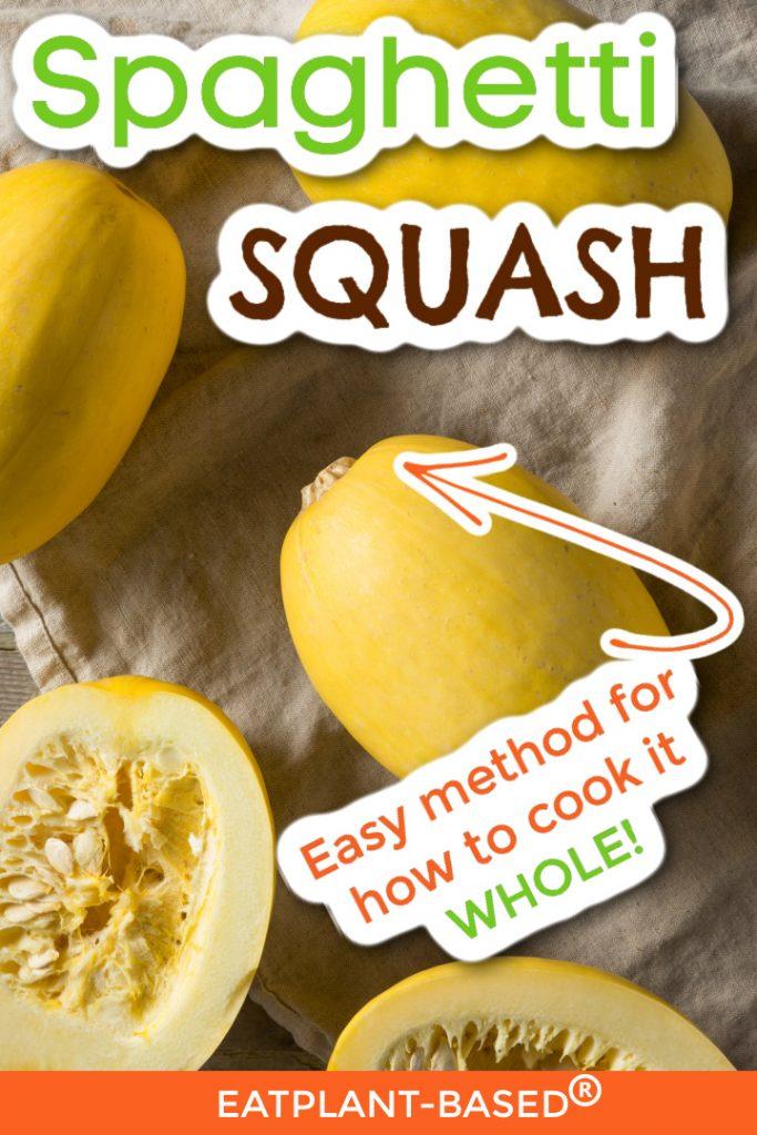 spaghetti squash photo collage for pinterest