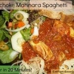 Artichoke Marinara Spaghetti – Dinner in 20 Minutes!
