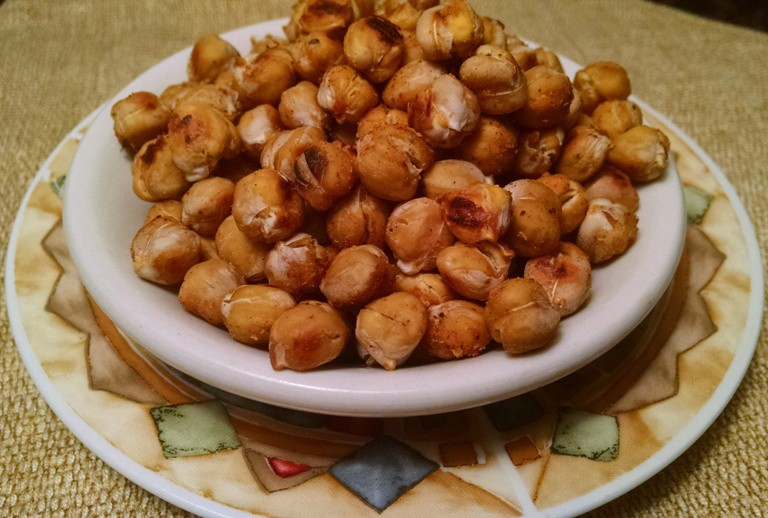 Salt & Vinegar Roasted Chickpea Snack - EatPlant-Based.com