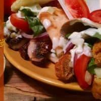 Vegan Gyros with Tzatziki Sauce