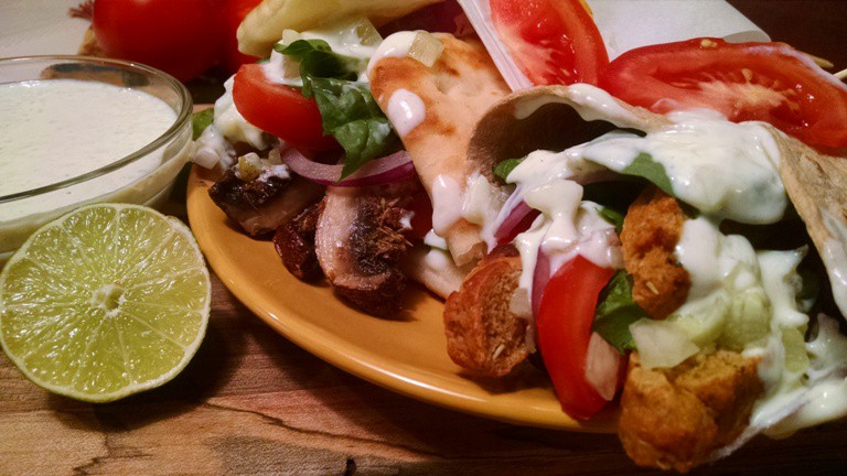 Vegan Gyros with Tzatziki Sauce