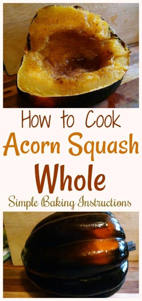 How to Bake Acorn Squash Whole
