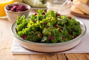 massaged kale salad in bowl