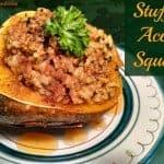 Vegan Stuffed Acorn Squash
