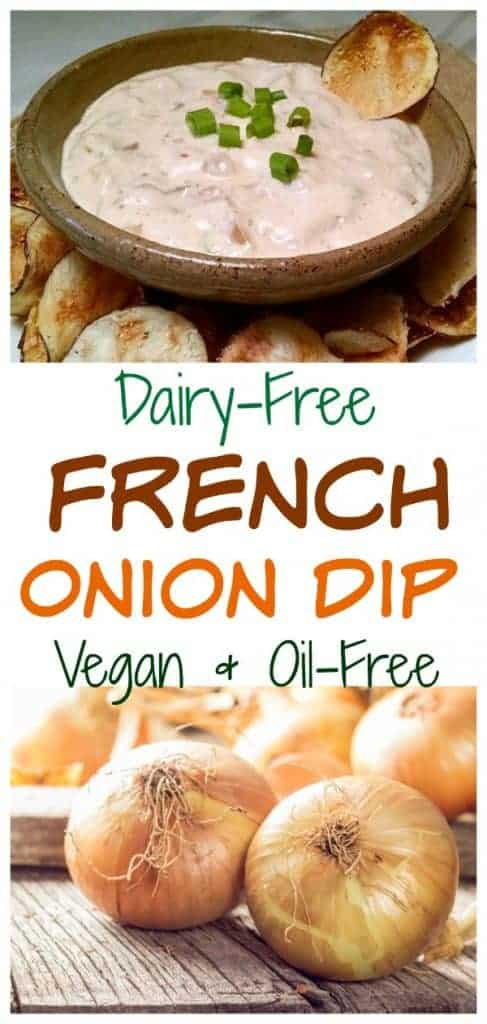 vegan dairy free french onion dip