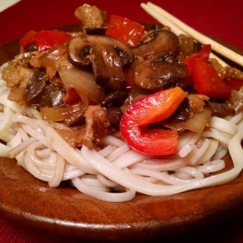 Buckwheat Pasta with Seitan