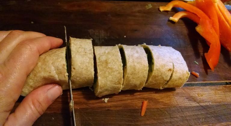 vegan pinwheel recipes slicing