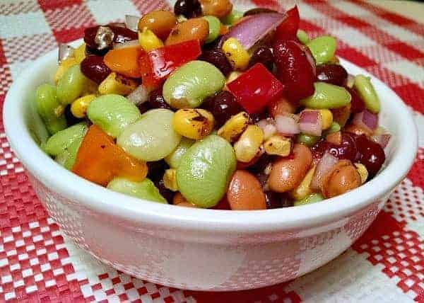 Easy 4-Bean Salad | No Cooking Required
