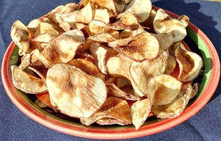 homemade healthy potato chips