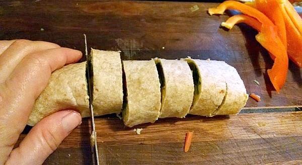 Vegan Pinwheels sliced