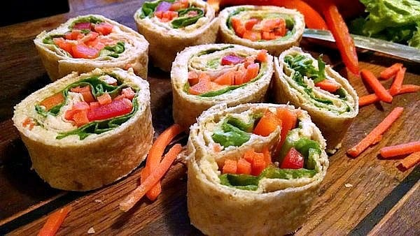 Vegan Pinwheels | Veggies in a Blanket