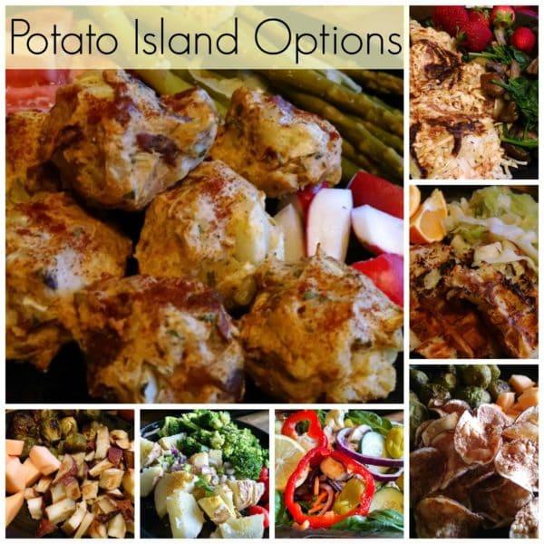 Mixed mary's mini potato island