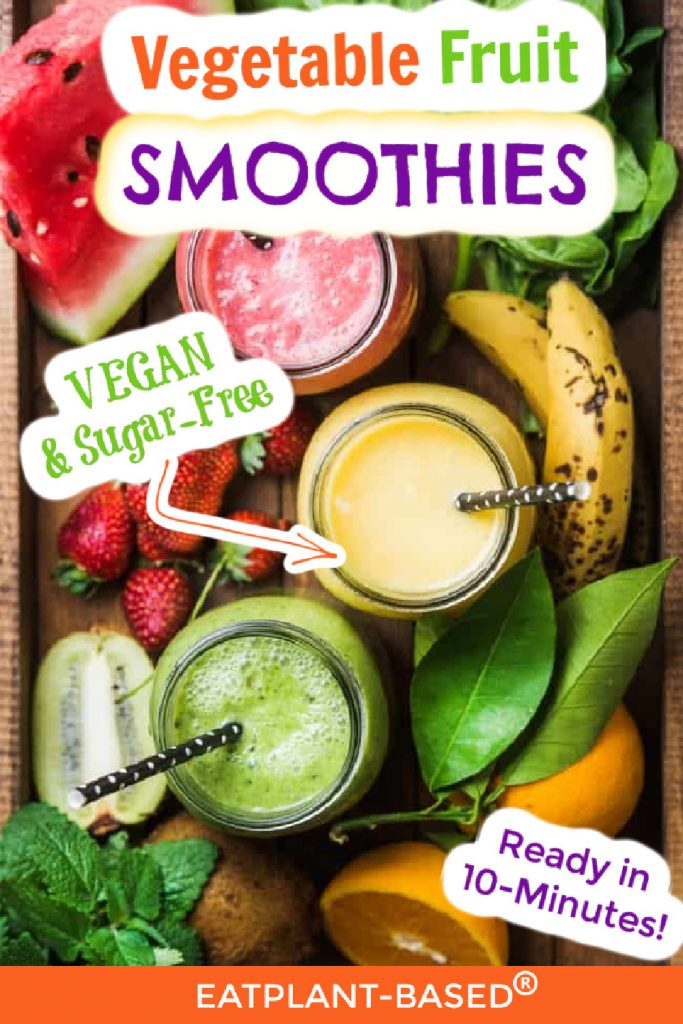 vegetable fruit smoothie photo collage