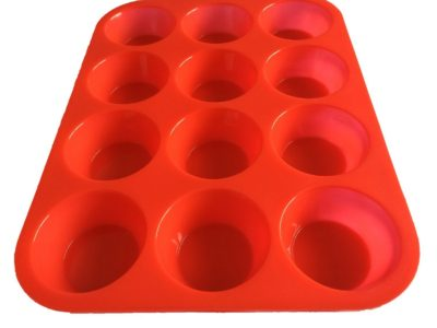 OvenArt Bakeware Silicone Muffin Pan, 12-Cup