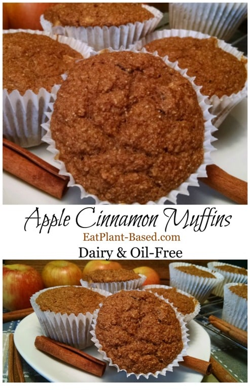 apple sauce cinnamon vegan muffins