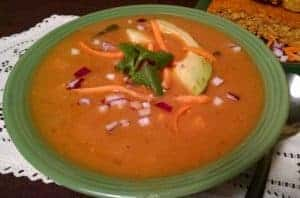 Sweet Potato Vegan Soup with Beans