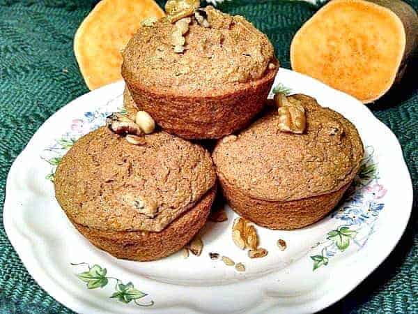Sweet Potato vegan muffins