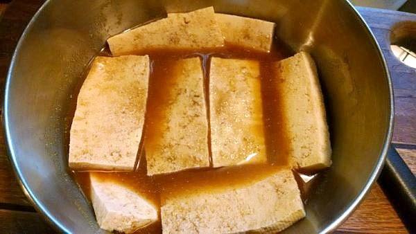 Marinating the tofu enhances the flavor.