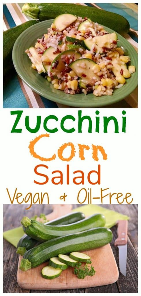Zucchini corn salad oil free