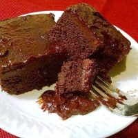 Easy Vegan Chocolate Hot Fudge Cake