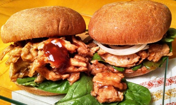 Soy Curl Barbecue Sandwiches
