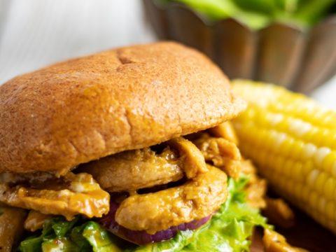 Best Vegan BBQ Sandwich | Soy Curls