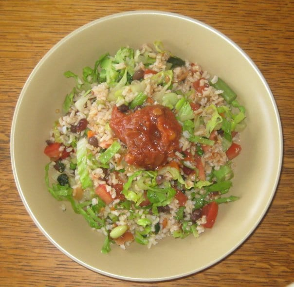 simple plant-based diet recipes. summer rice salad